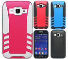 For Samsung Galaxy Core Prime Rocket HYBRID Protector Rubber Cover +Screen Guard