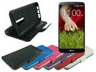 Leather Wallet Case Stand with Soft TPU for LG G2