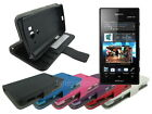 Leather Wallet Case Stand with Soft TPU for Sony Xperia Acro S LT26w