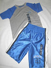 Boys Gap Kids Blue & Gray Athletic Basketball Shorts & Shirt Set S, M, L