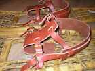 Внешний вид - *BINDINGS ONLY* New Pair LEATHER Howe Snowshoe Bindings Straps Harness USA MADE