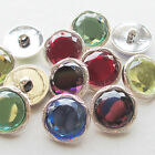 New 20pcs Rhinestone Plastic Buttons 25mm Sewing Craft  Back Holes T0746