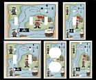 PIRATE TREASURE MAP K1 BOYS ROOM  LIGHT SWITCH COVER PLATE OR OUTLETS U PICK