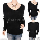 Unique Black Cross Bust Long Sleeves Sweater Top