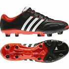 New Mens Adidas Adipure 11 Pro FG Black Red Leather Football Boots Size 6-12 UK