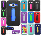 For Samsung Galaxy Core Prime IMPACT Hard Rubber Case Phone Cover Kickstand