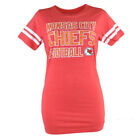 NFL Kansas City Chiefs Paisley Women Ladies Football Red Tshirt Tee Shirt