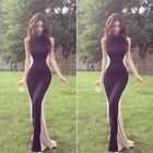 Fashion Sexy Slim Sleeveless Long Dress Prom Party Club Evening Gown Clothing