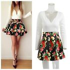 2 Colors Women's V-Neck  Long Sleeve Splicing Floral Print Patchwork Dresses S