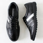 Premium Mens Casual Lace up Fashion Sneakers Black
