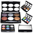 New 6 Color Palette Pro Mineral Cosmetics Shimmer Eyeshadow Eye Shadow Makeup