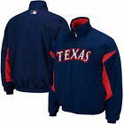 Majestic Texas Rangers Youth Therma Base Triple Peak Premier Jacket - Royal Blue