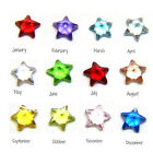 10PCS Lucky Star Birthstone Crystal Nice Designs Floating Charm Locket Necklace