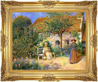 Framed Art Garden Scene in Brittany Pierre Auguste Renoir Painting Reproduction