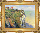 Cliffs near Dieppe by Claude Monet Painting Reproduction Framed Giclee Art Print