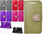 For Motorola Moto E 2nd Diamante Glitter Leather Wallet Pouch Flip Phone Cover