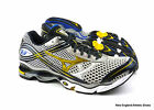 Mizuno mens Wave Creation 13 running shoes - Silver / Cyber Yellow / Indigo Blue