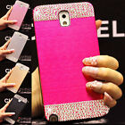 Bling Diamond Brushed Metal aluminum Case Cover Samsung GalaxyS3/S4/S5/Note2/3/4