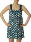 TIBI New York Polka Dot Print Silk Shift Dress - Blue/Green $280