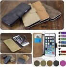 Luxury Leather Flip Wallet Slim Case Cover For Apple iPhone 6 + iPhone 6 Plus
