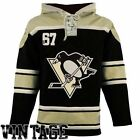 Men's Pittsburgh Penguins Old Time Hockey Black Home Lace Heavyweight Hoodie