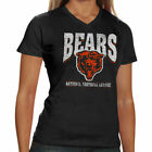 Chicago Bears Women's V-Neck Scrum T-Shirt - Navy Blue