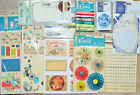 """Papermania 12"""" x 12"""" Sheets/Decopage Medley/Pinwheel/Ribbons/Rubber Stamp ETC"""
