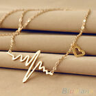 HOT SELLING WOMEN ALLOY HEART BEAT PENDANT CHAIN CHOKER COLLAR JEWELRY NECKLACE