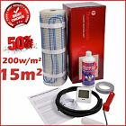 Electric Underfloor Undertile Heating Kit 200w 15m2 Thermopads FREE Delivery
