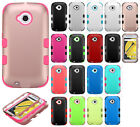 For Motorola Moto E 2nd Gen IMPACT TUFF HYBRID Hard Case Phone Cover Accessory