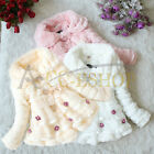 Baby Toddlers Girl Faux Fur Fleece Coat Kids Winter Warm Jacket Outwear Clothing