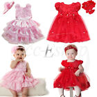 Toddler Baby Girl Party Pageant Wedding Flower Tutu Dress +Headband 2pcs Clothes