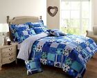 Duvet Cover with Pillowcase Bedding Set Floral Reversible Shabby Chic Patchwork