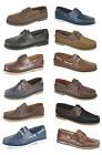New Mens DEK Leather Moccasin Boat Deck Shoes Moccasin Casual Loafers Size 6-12