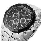 CURREN Men Fashion Luxury Stainless Steel Big Dial Waterproof Quartz Wrist Watch