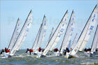 Poster / Leinwandbild A fleet of J70 Sailboats during a race on ... - S. Brown