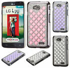 For LG Optimus L70  Diamond Desire Back BLING Case Cover Accessory +Screen Guard