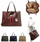 Ladies Designer Faux Leather Chic Fashion Tote Bag Women's Handbag with Strap