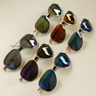 Mens Ladies Polarized Mirrored Lens Aviator Sunglasses Shades Driving UV400 Cool