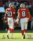 Jerry Rice Steve Young San Francisco 49ers NFL Action Photo (Select Size)