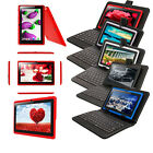 "Multi Colors 7"" 16GB Android 4.4 A33 Quad Core Tablet PC Cameras Wifi w/Keyboard"