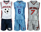 BOYS BASKETBALL VEST TOP & SHORTS SET KIT OUTFIT 6-12 YEARS BNWT