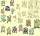 Fetzer Seed Packs Machine Embroidery & Redwork Designs-Anemone Embroidery Design