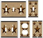 RUSTIC BARN STAR BROWN LIGHT SWITCH COVER PLATE # K 25     U PICK PLATE SIZE
