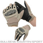 FIELDS AIRSOFT TACTICAL HARD X GLOVES TAN ASSAULT ARMY STYLE PROTECTION