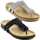 Soda Lezena-s Women's Thong Flat Rhinestone Sandal Shoes