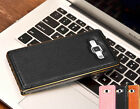 Luxury Leather Back + Metal Bumper Case Cover for Samsung Galaxy A3 A5 A7