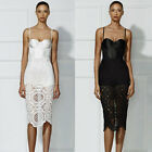 Sexy Womens Summer Spaghetti Strap Bralet Lace Evening Party Pencil Midi Dress