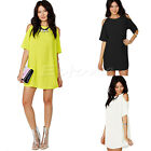 Fashion New Women's Loose Chiffon T Shirt Tops Short Sleeve Dress Casual Blouse