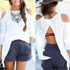 New Summer Women Strapless Casual Shirts Backless Blouses Tops Shirt Reliable